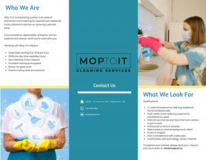 Mop To It Job Posting