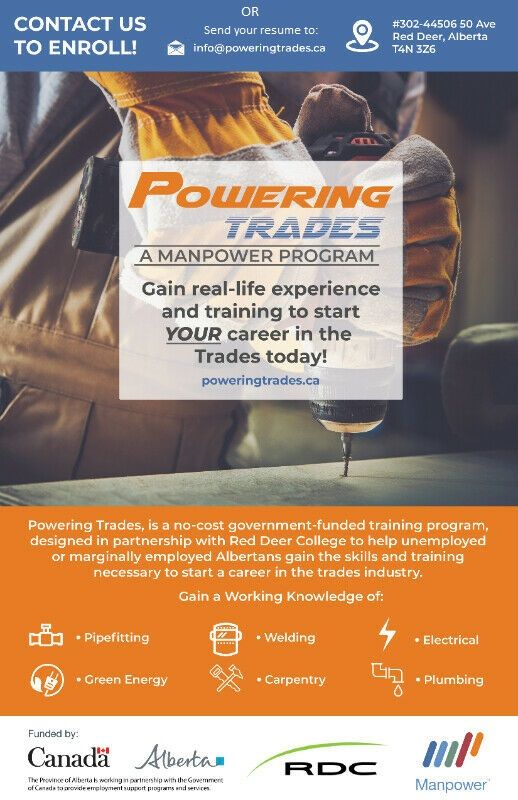 Manpower Alberta (Powering Trades) Poster